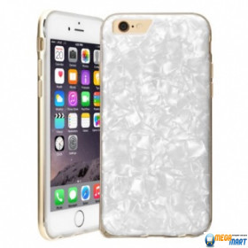 Чехол WOWcase Marble + Silver Metal Bumper case for iPhone 6